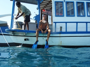 2006 on snorkel boat with gayoom
