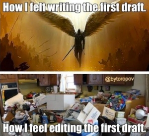 writing and editing 1st draft