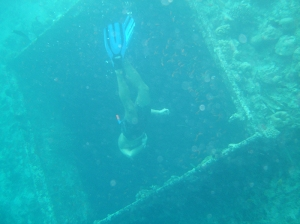 2007 freediving at wreck
