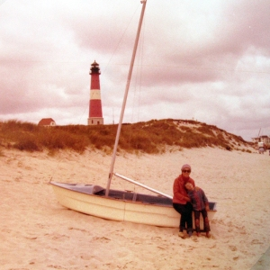 1977 sylt lighthouse with mom
