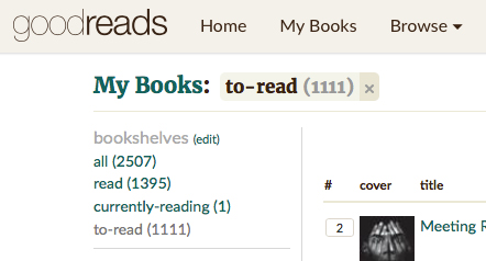 goodreads to-read
