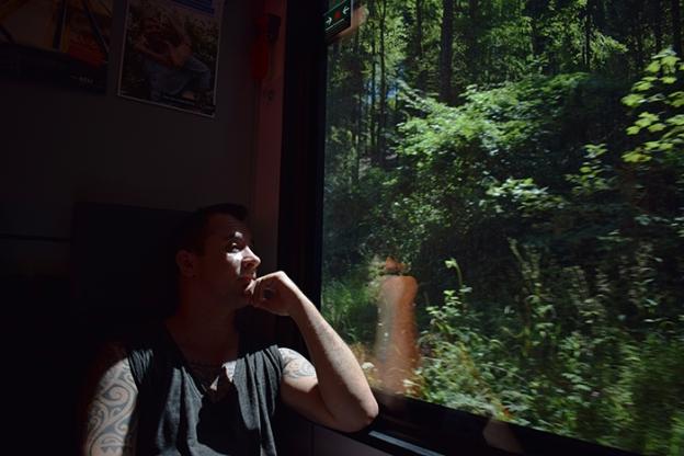 2017 liam on a train