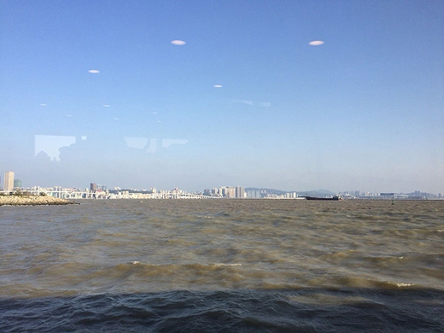 macau seen from ferry