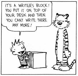 writing block